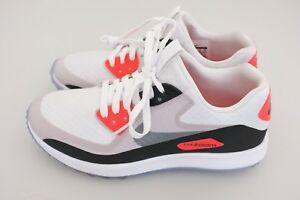 outlet store 97995 16c80 NEW Nike Air Zoom 90 IT Golf Infrared Mens Shoes White Gray Sz 7 ...