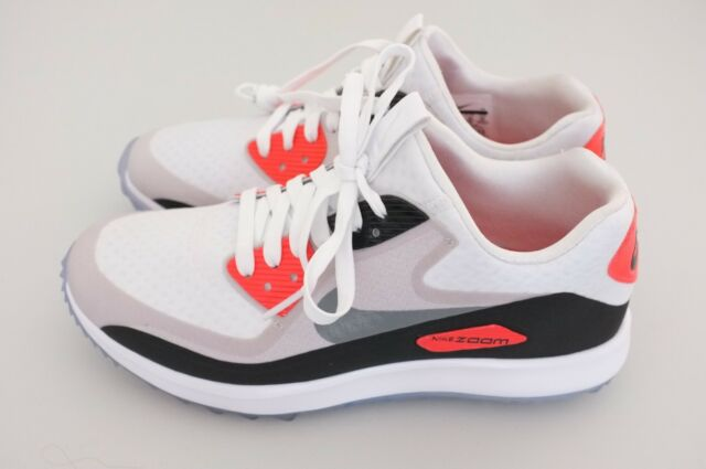 new style 5eaa4 5e659 Nike Air Max Zoom 90 It Infrared White Grey Red 844569-101 Sz 10.5 Golf  Shoes