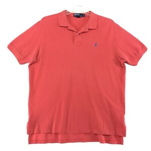 Polo-Ralph-Lauren-Shirt-Mens-Size-XL-Orange-Red-Short-Sleeve-Cotton