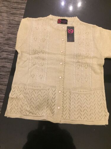 Size L Gold Cardigan Button Sarah New M Down Dunnway Ladies A4nI1qEp