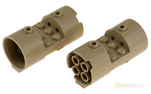 2x LEGO® 93168 Zylinder horizontal 3x6x2 2//3 dunkelbeige dark tan NEU