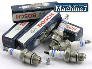 VW-Beetle-Ignition-System-Spark-Plug-Set-W8AC-T1-Bug-Engine-1200-1600cc-BOSCH-x4