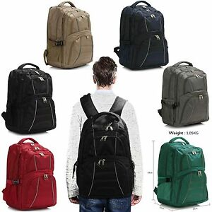 Image is loading Unisex-Outdoor-Large-Polyester-Backpack-Women-College-Men- 14fb60bf0ff54