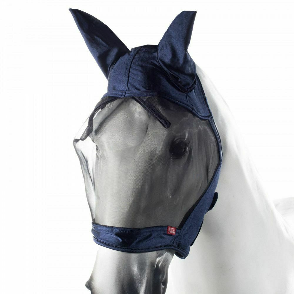 Horze Cayman Fly Mask with Soft Fleece Lining and Elastic Fit Ears