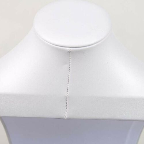 White Leather Necklace Display Bust Shelf Accessories Holder Jewelry Rack Stand