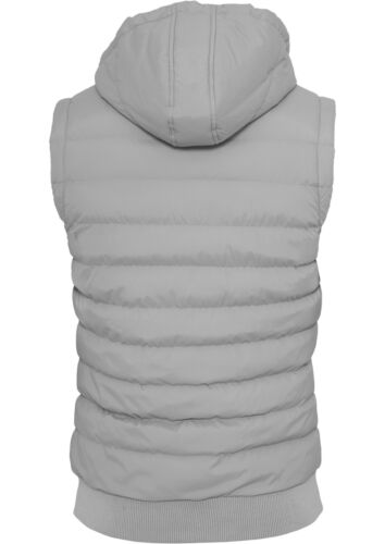 URBAN CLASSICS ® Small Bubble Hooded Vest da Uomo Trapuntato Con Cappuccio Gilet LIGHT 2-Tone