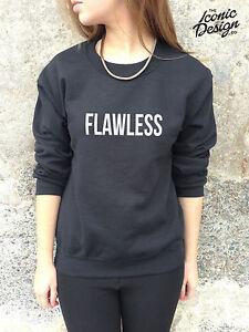 FLAWLESS-Jumper-Top-Sweater-Sweatshirt-SWAG-Style-Fashion-Dope