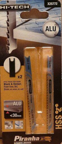 X25772 U-Aufnahme Piranha Stichsägeblätter HI-TECH HSS für Aluminium