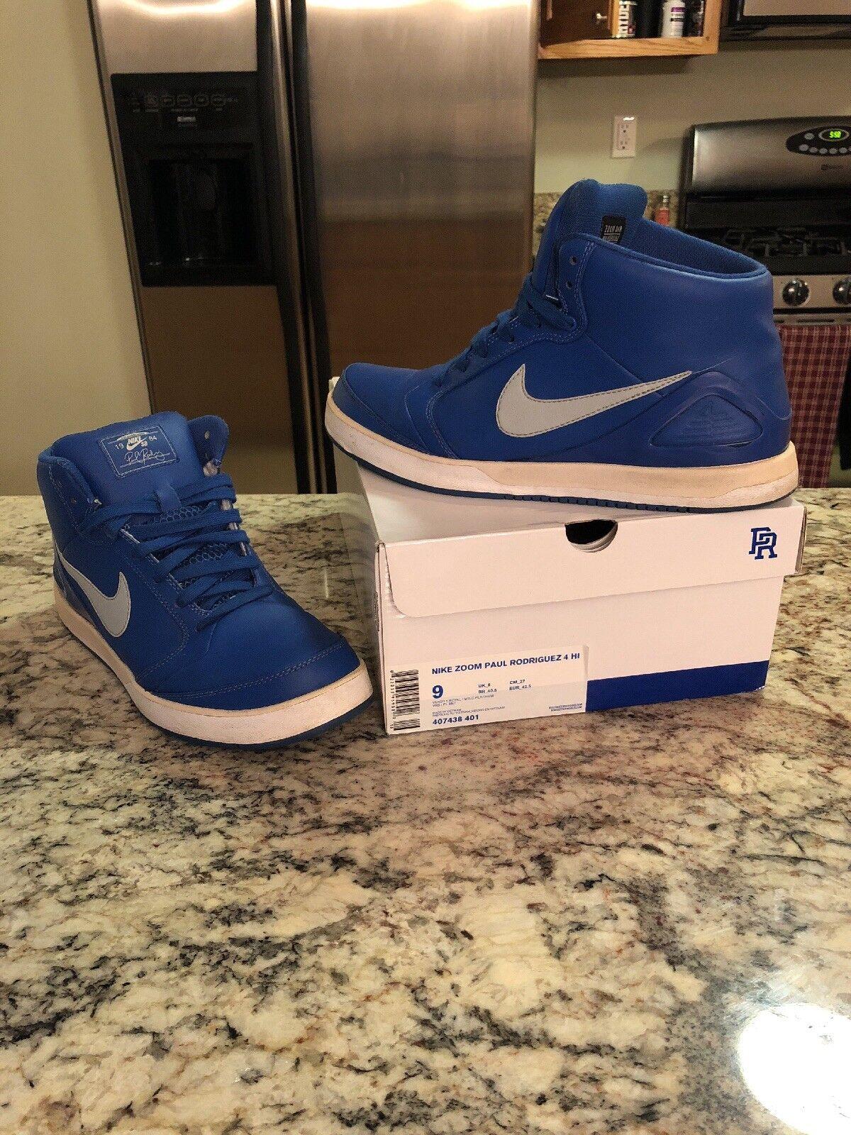 Nike Zoom alta Paul Rodriguez p rod 4 temporada alta Zoom azul comodo recortes de precios, beneficios de descuentos 358a42