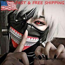 ANOTHERME Tokyo Ghoul Ken Kaneki Season 1 Black Zipper Mask Party Cosplay Accessories Prop
