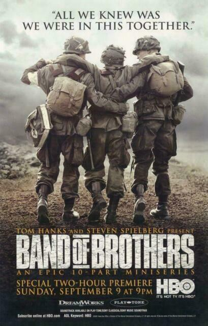 Band of Brothers Movie Promo Poster D Eion Bailey Jamie Bamber ...