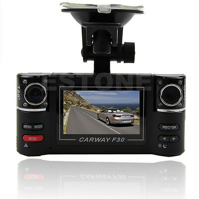 "HD 1080P 2.7"" Dual Lens Car DVR Night Vision Rear View Camera Recorder Dash Cam"