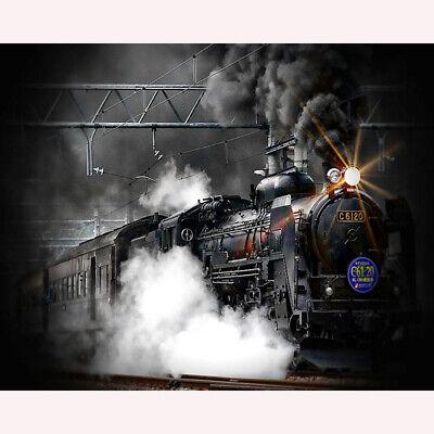 FullRoundDrill 5D DIY Diamond Painting Rail /& Steam Train Cross Stitch Ctafts