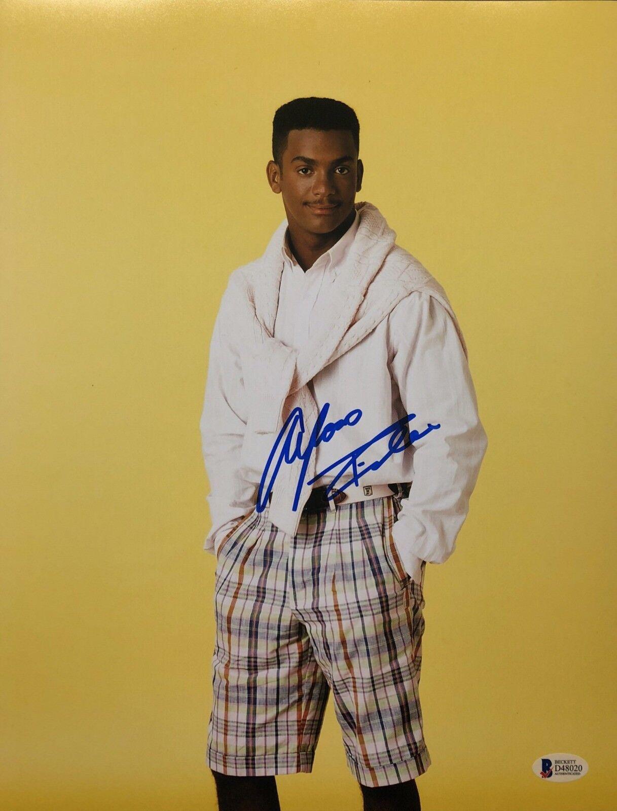 Alfonso Robeiro Signed 11x14 Photo *Fresh Prince Of Bel-Air BAS Beckett D48020