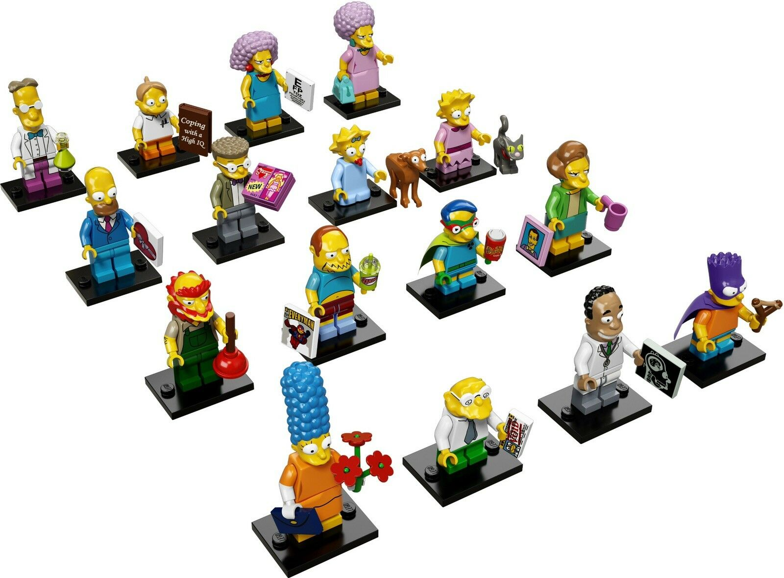 LEGO MINIFIGURES THE SIMPSONS SERIE 2 Set di 16 Figure 71009 NUOVO COMPLETO