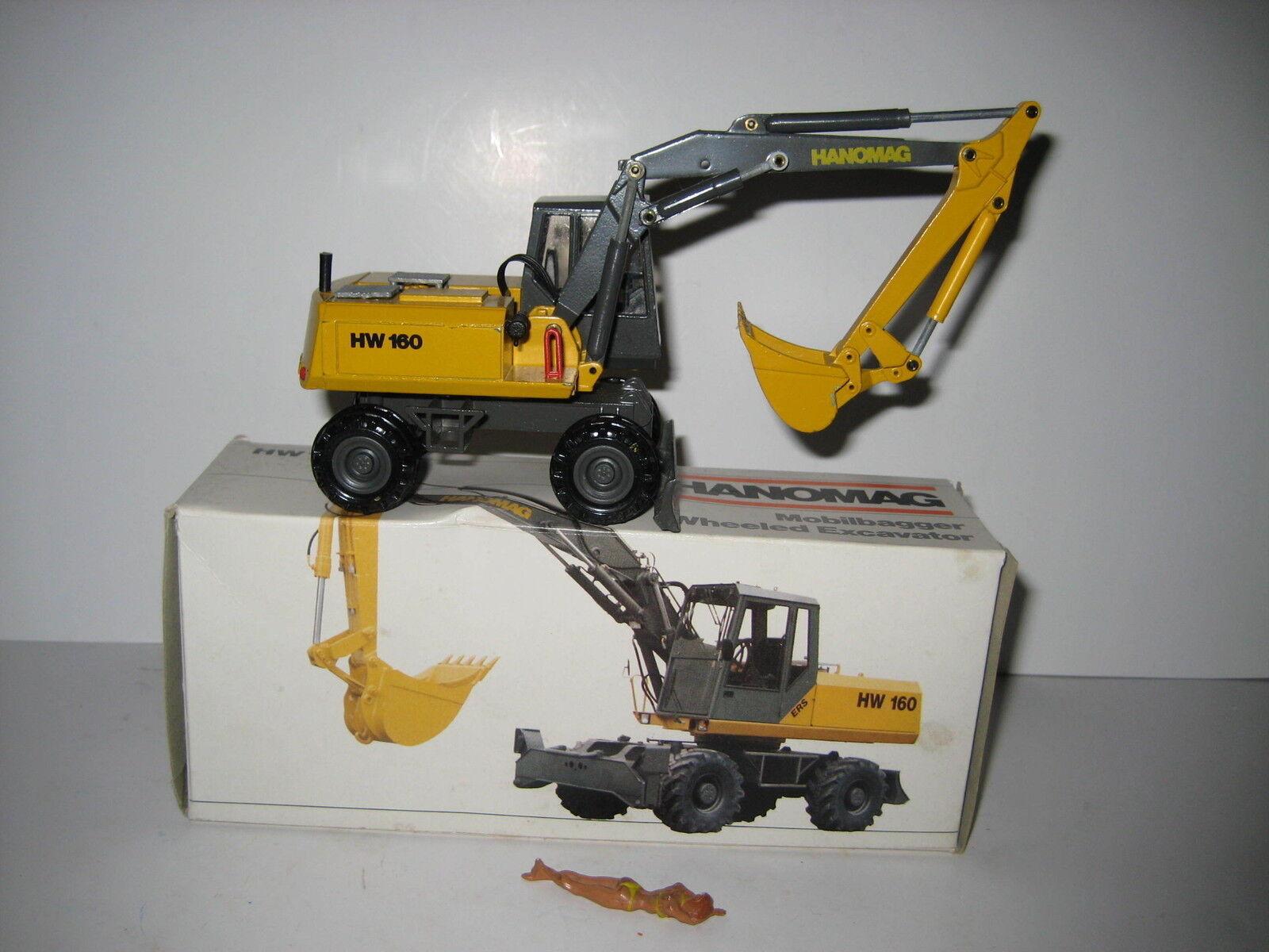 Hanomag HW 160 Excavateurs tieflöffel mobile  2817.2 CONRAD 1 50 NEUF dans sa boîte