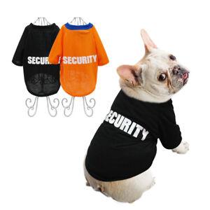 ab7e49701e14 Security Dog Shirt Small Cotton Puppy Dog Summer Vest Black Orange ...