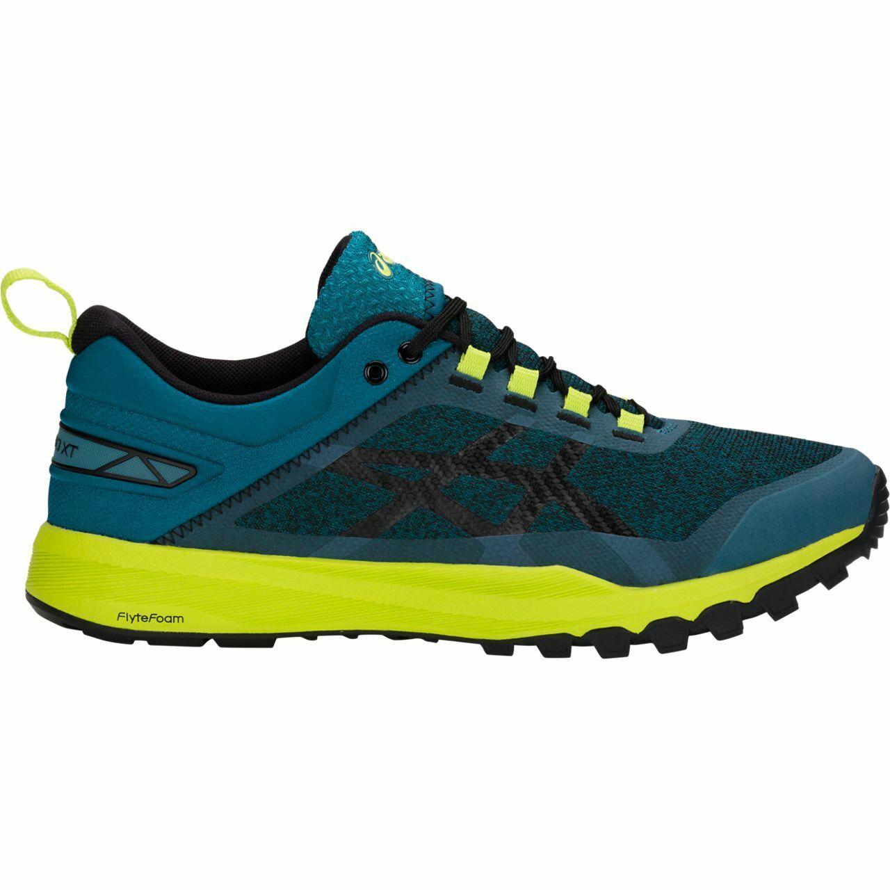 Asics T826N-400 Gecko XT Impresión Azul Negro Para hombres Zapatos para correr
