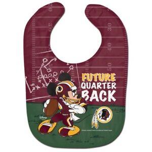 Image is loading Washington-Redskins-Baby-Bib-Disney-Mickey-Mouse-Feeding- 67f2882bc