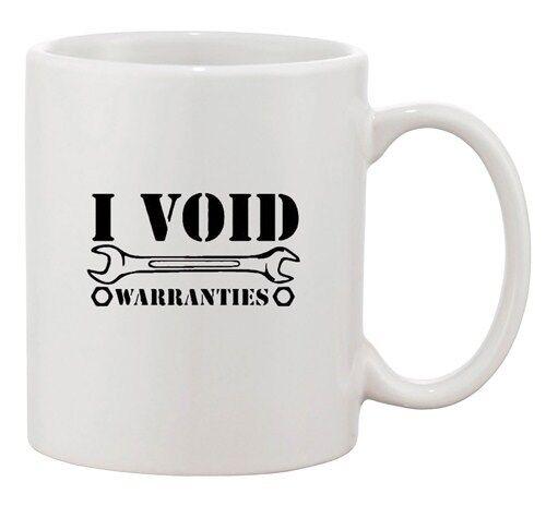 I Void Warranties Tools Wrench Mechanic Funny Ceramic White Coffee Mug