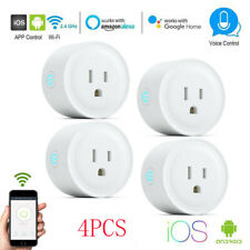 4 X WiFi Smart Plug Remote Control Socket Outlet Switch Alexa Echo Google Home