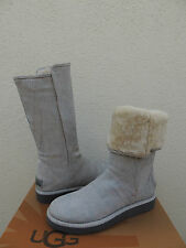 UGG ITALIAN COLLECTION ABREE CIELO BLUE SNAKE SHEARLING BOOTS, US 7/ EUR 38 ~NEW