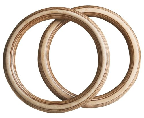 Gym RINGS di Hold Fast-Turn anelli di legno Incl cinghie-HOMEGYM CROSSFIT