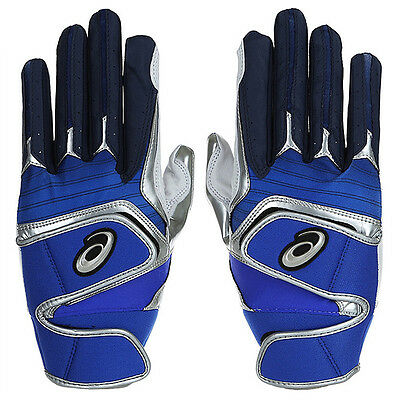 Asics Baseball / Softball Batting Gloves Blue/Navy BEGK60-4350
