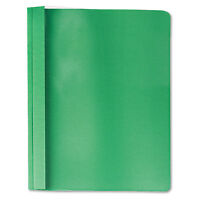 Universal Clear Front Report Cover Tang Fasteners Letter Size Green 25/box 57124 on sale