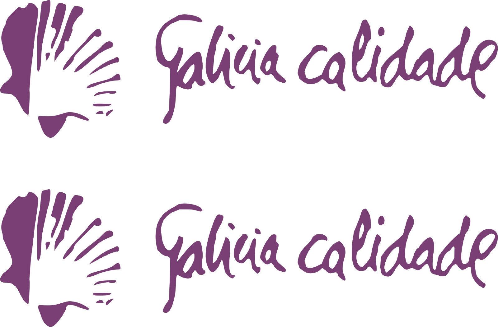2 PEGATINAS PEGATINAS 2 VINILO - Galicia Calidade - Vinyl - AufKleber - Sticker - Moto c52b42