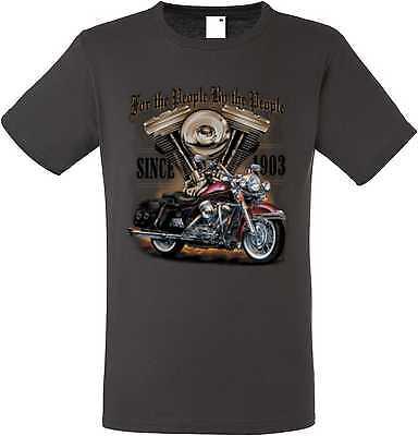 GroßZüGig T Shirt Graphiteton Hd V Twin Biker Chopper&oldschoolmotiv Modell For The People Rohstoffe Sind Ohne EinschräNkung VerfüGbar