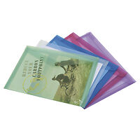 1039 Rapesco ECO Popper Wallet A4 Assorted Pack of 5