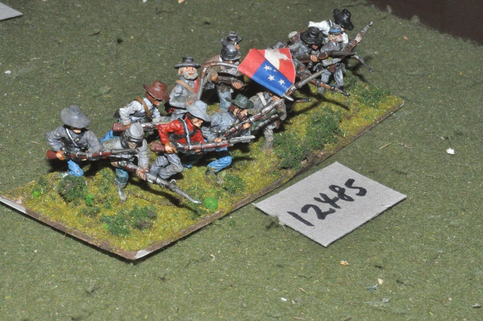 25mm ACW   confederate - american civil war infantry 14 figures - inf (12485)