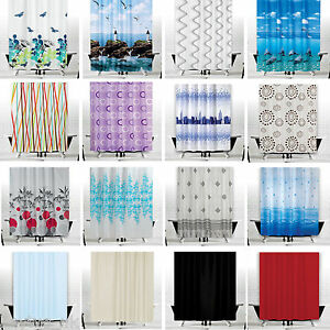 Image Is Loading Great Fabric Shower Curtains Extra Wide And Long