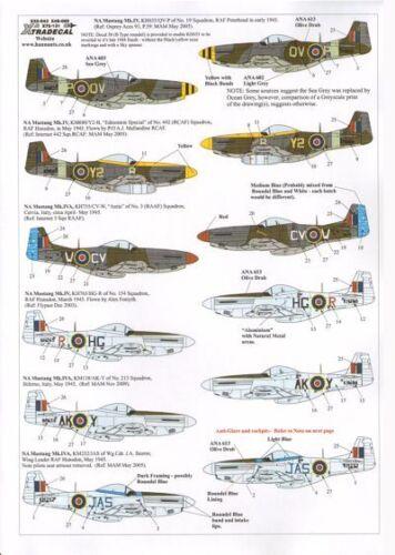 IV #32043 Xtradecal 1//32 P-51d Mustang Mk