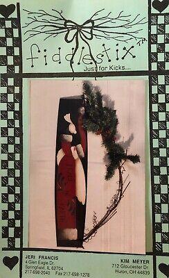 2019 Nieuwe Stijl Tole Pattern Packet Peace Santa By Jeri Francis & Kim Meyer ( Fiddlestix ) Matching In Kleur