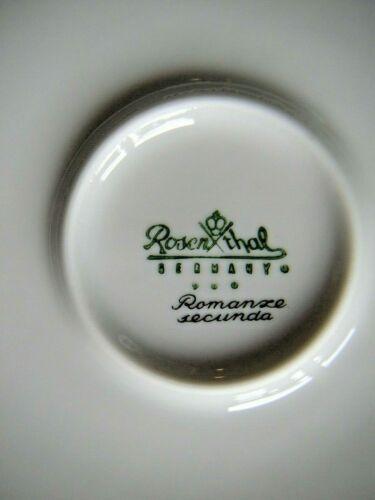 """Excellente conservation 1x ROSENTHAL /""""Romance/"""" SECUNDA petit déjeuner assiette 19 cm"""