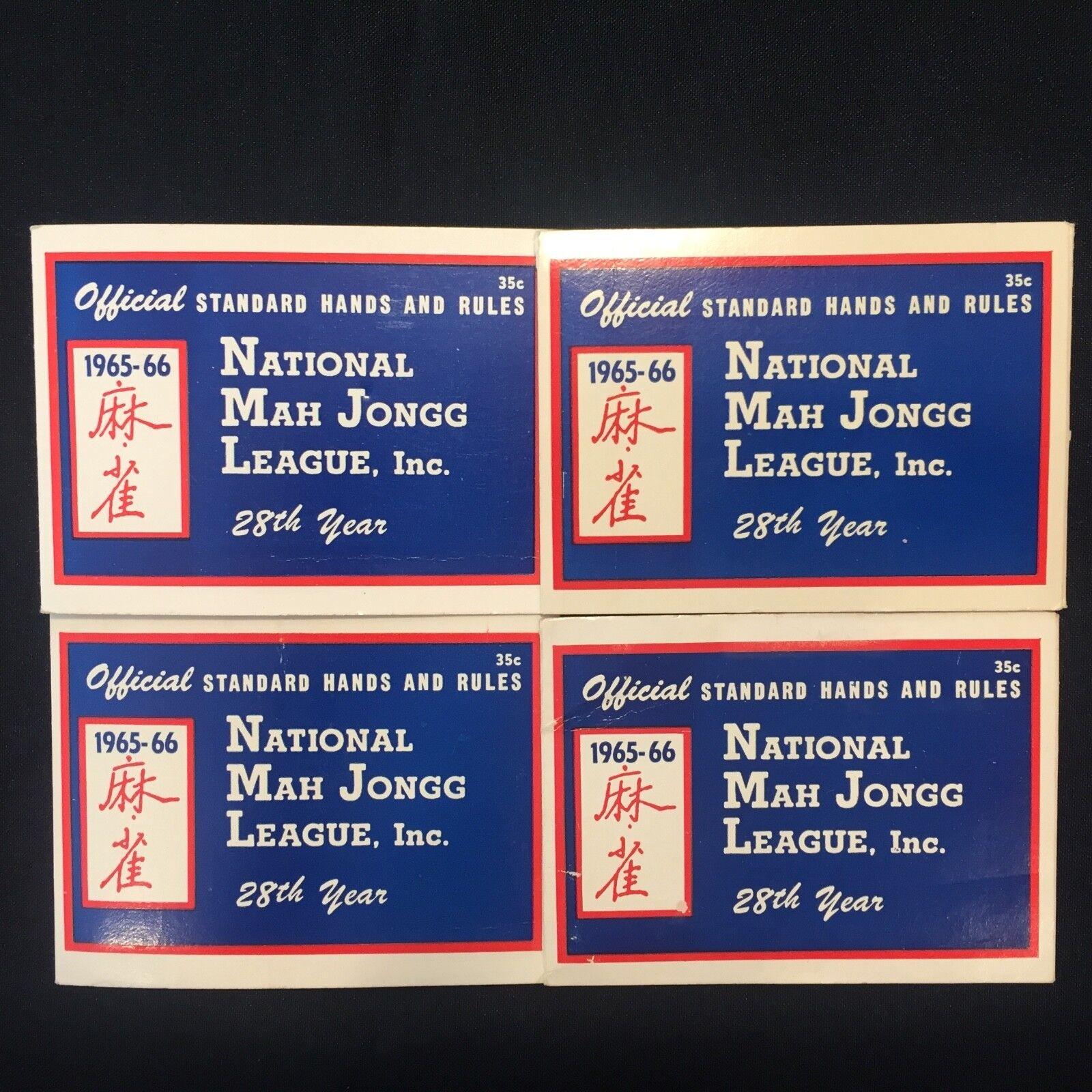 1965 MAH JONG JONGG NATIONAL LEAGUE, INC OFFICIAL STANDARD HAND & RULES CARDS
