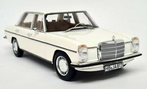Norev 1/18 - Mercedes Benz 200 W115 1968 White Diecast Scale Model Car