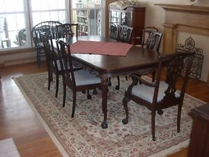 Image Is Loading Chippendale Dining Room Set With Buffet