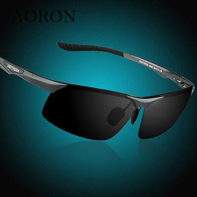 Aluminum Polarized Sunglasses Men Outdoor Sport Driving Red Blue Mirrors Glasses