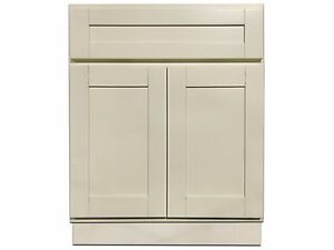 24 Inch Vanity Cabinet Creme White Ebay
