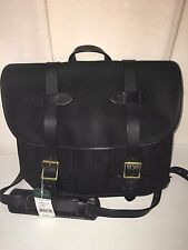 NEW WITH TAGS FILSON MADE IN USA RUGGED TWILL BLACK MEDIUM FIELD BAG