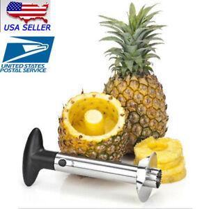 New-Easy-Kitchen-Tool-Fruit-Pineapple-Corer-Slicer-Cutter-Peeler-Stainless-Steel