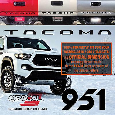 Toyota (Set of 2) Tacoma Tailgate Letters Matte Black Vinyl Decals 2016 17  18 19 | eBay