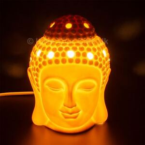 Buddha-Electric-Wax-Melt-Burner-White-Ceramic-Tart-Granules-Oils-Aromatize