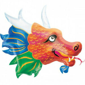 Chinese-New-Year-Oriental-Party-Supplies-Large-Dragon-Foil-Balloon-84cm-x-66cm
