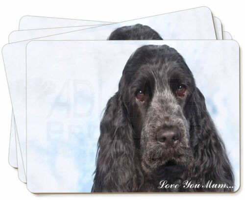 Blue Cocker Spaniel 'Love You Mum' Picture Placemats in Gift Box, ADSC5lymP