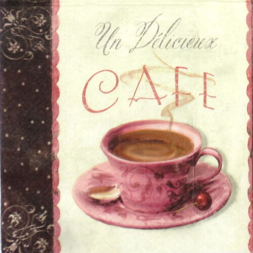 4x Paper Napkins for Decoupage Decopatch Craft Vintage Coffee