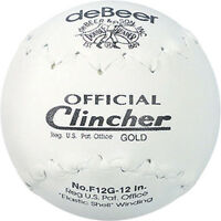 Debeer Clincher Gold Softballs F12g 12 Inch Slowpitch - In Box/wrapper